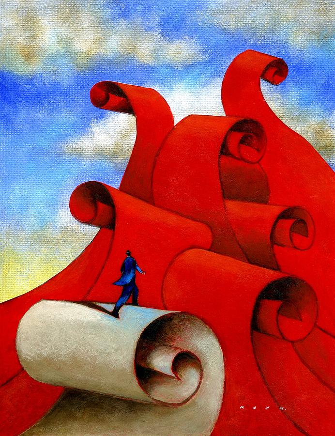 Corporate Painting - Wave by Kazu Nitta
