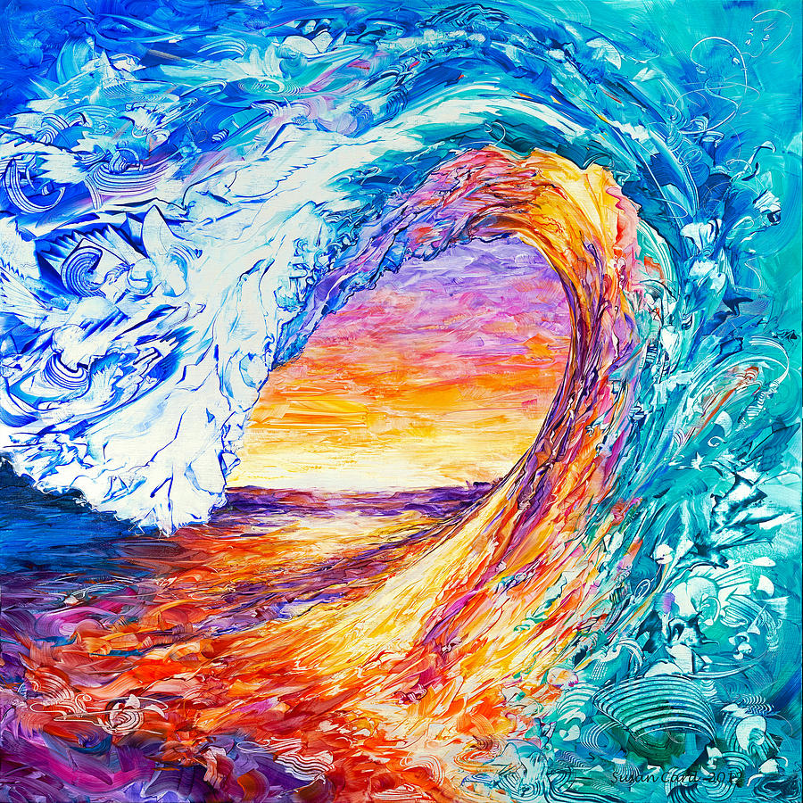 Wave of creativity painting by susan card for Creative paintings pictures