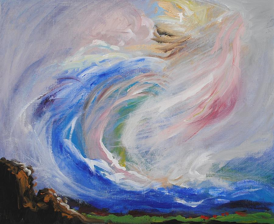 Prophetic Painting - Wave Of Healing by Patricia Kimsey Bollinger