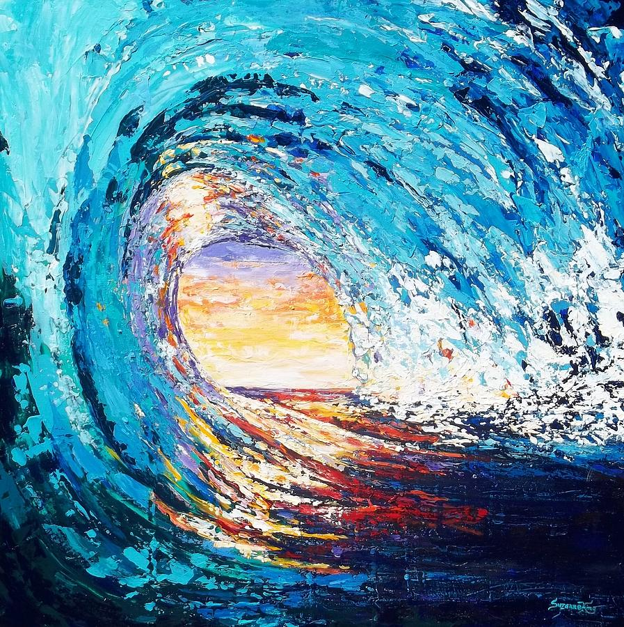 Wave Painting - Wave Of Light by Suzanne King