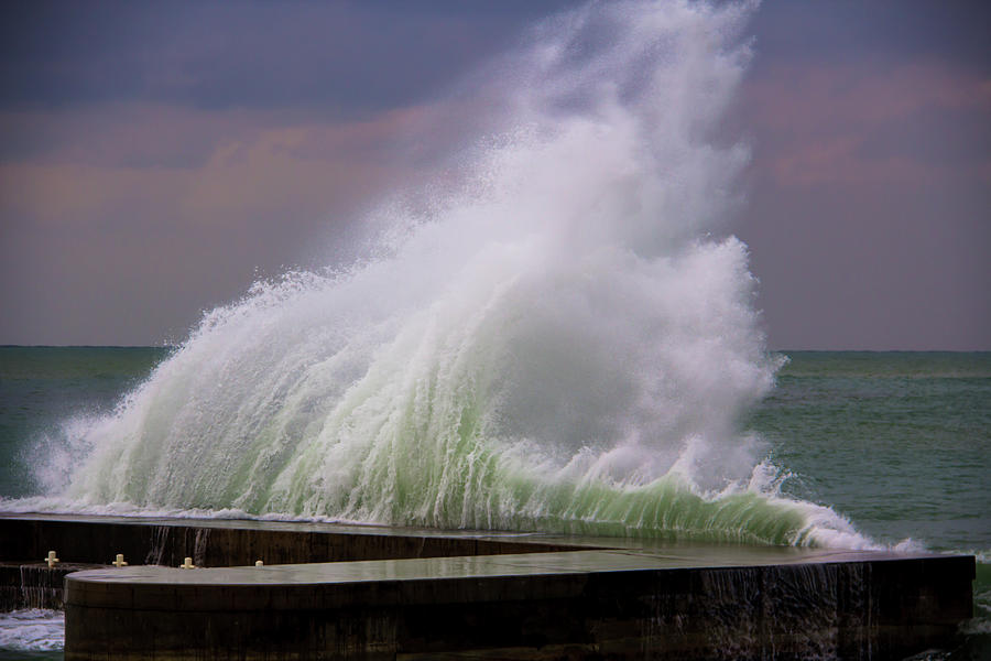 Wave On Beirut Corniche Photograph by Copyright Pascal Carrion