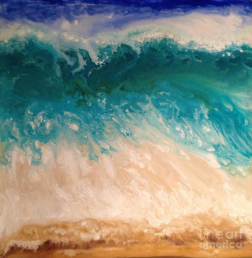 Wave Painting - Wave by Patty Vicknair