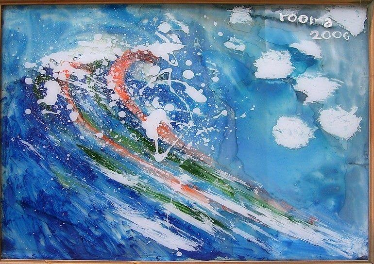Sea Painting - Wave by Rooma Mehra