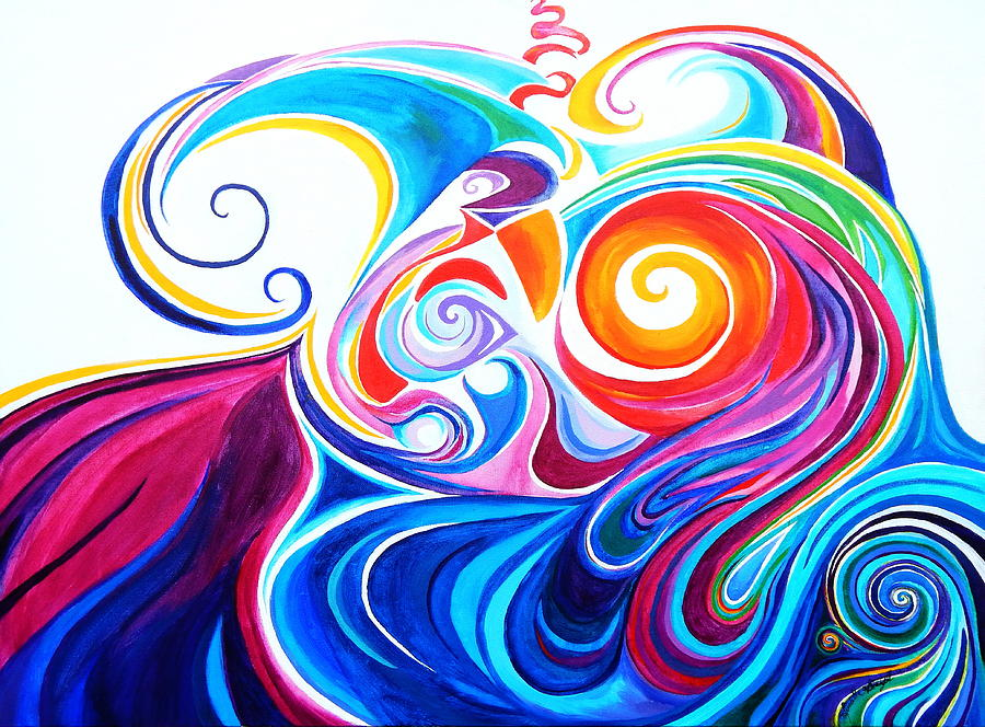 Wave set Painting by Priscilla Batzell Expressionist Art Studio Gallery