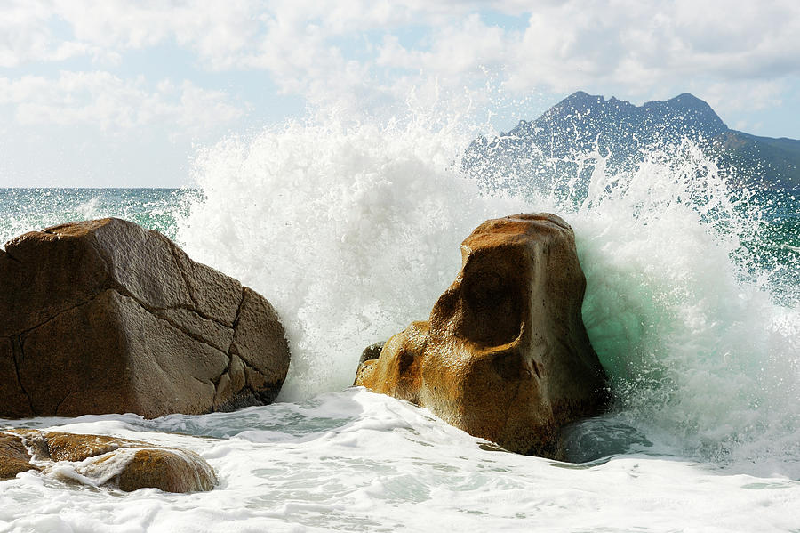 Wave Splash Photograph by Akrp