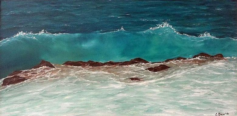 Landscapes Painting - Wave by Svetla Dimitrova