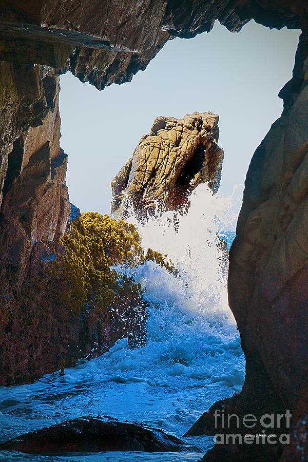 Pfeiffer Beach Photograph - Wave Through The Cave At Pfiffer Beach In Big Sur by Artist and Photographer Laura Wrede