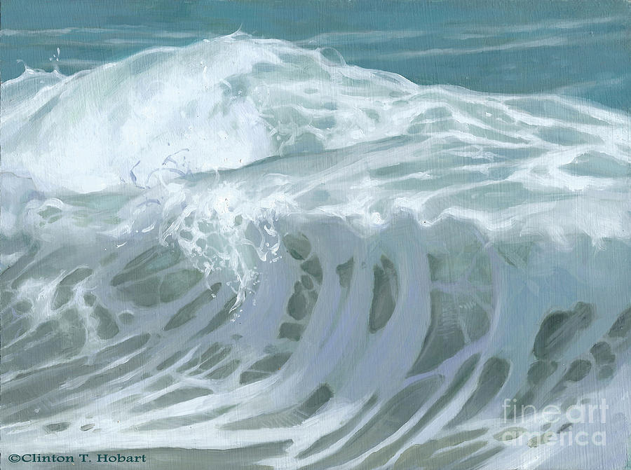 Wave Painting - Wave X by Clinton Hobart