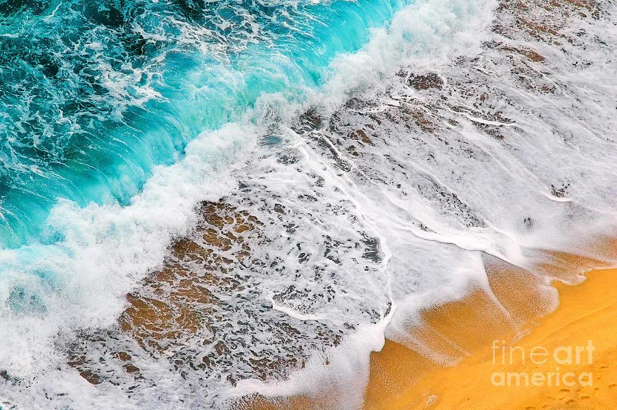 Waves Photograph - Waves Abstract by Silvia Ganora