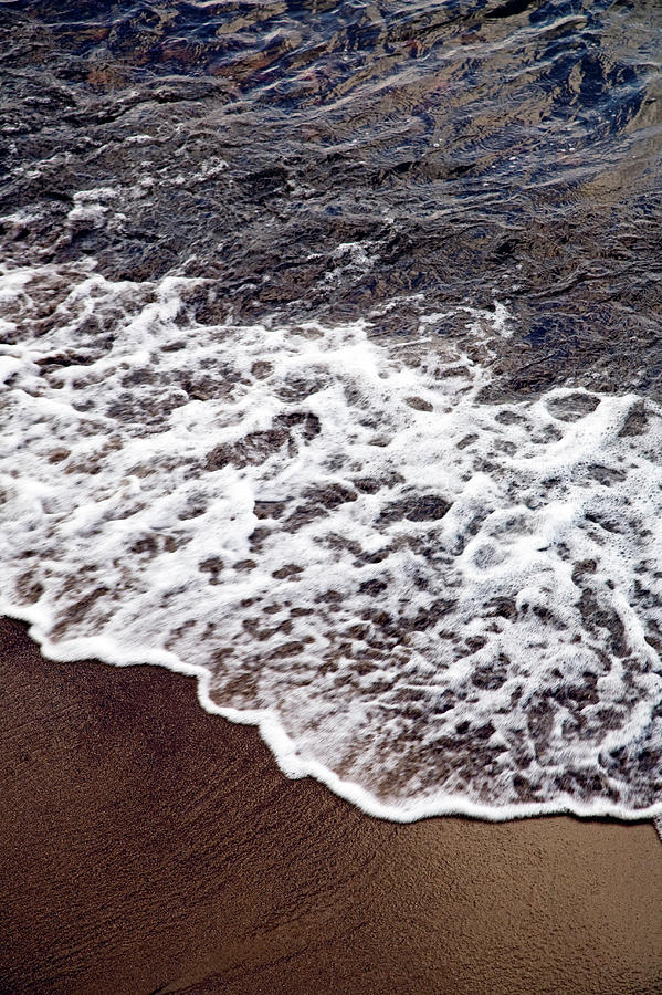 Waves And White Wash Break Onto A Sandy Photograph by Snap Decision