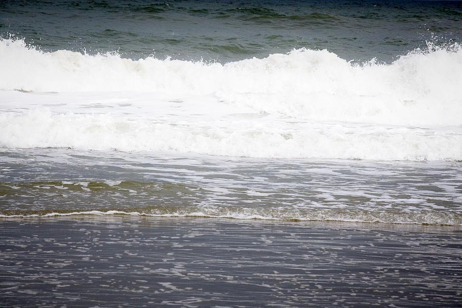 Beach Photograph - Waves by Anita Miller