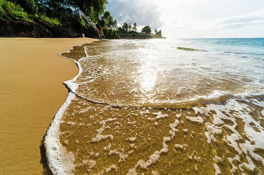 Tranquility Photograph - Waves At Store Bay, Tobago by John Harper