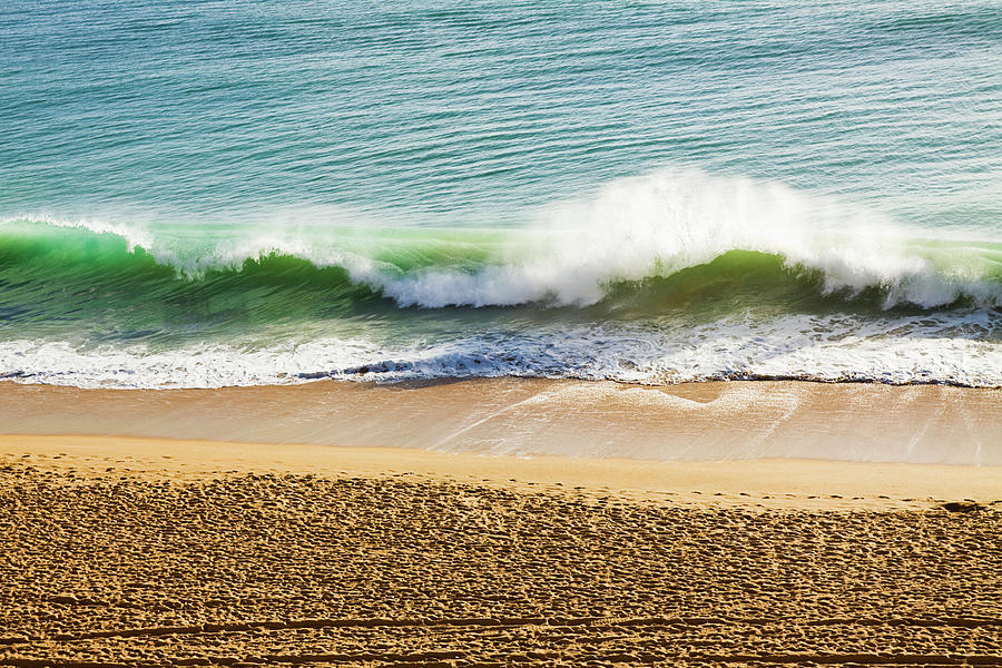 Waves Breaking On The Beach Photograph by Alanphillips
