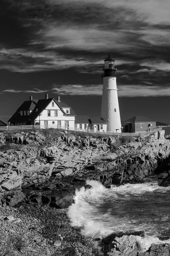 Atlantic Ocean Photograph - Waves Crashing by Guy Whiteley
