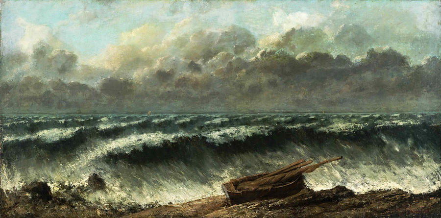 Gustave Courbet Painting - Waves by Gustave Courbet