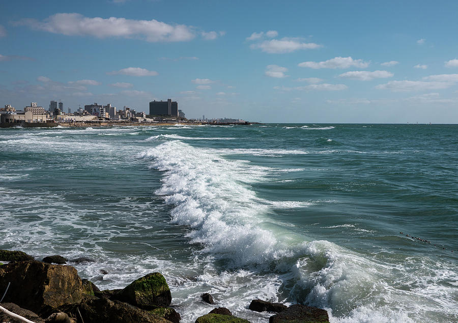 Waves In Tel-aviv Coast Photograph by Taken By Ehud Lavon