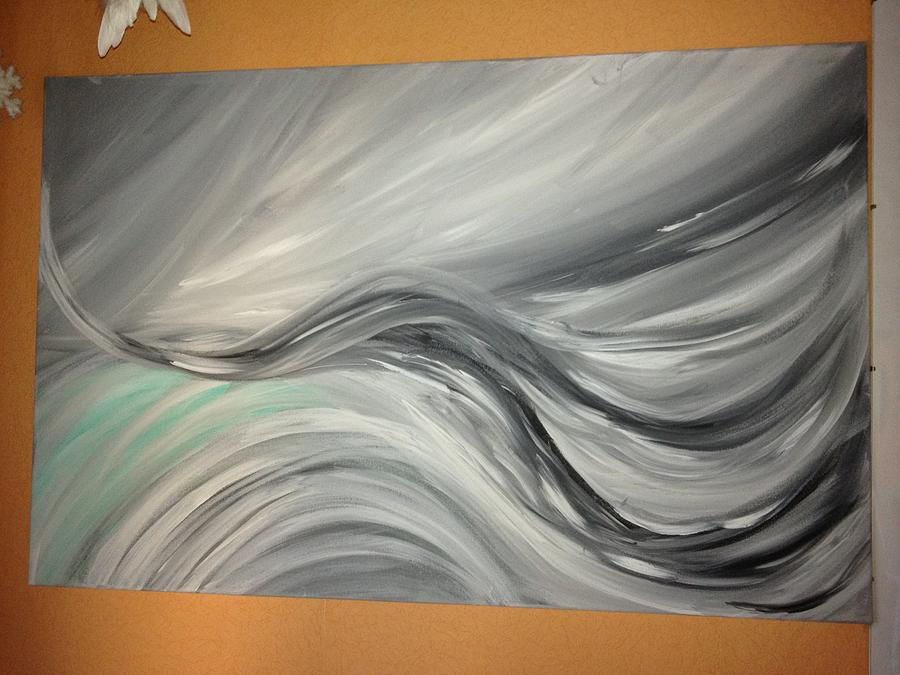 Abstract Painting Painting - Waves by Melissa  Le Fay