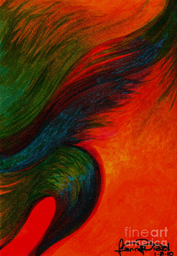 Colorful Painting - Waves Of The Wind by Fanny Diaz