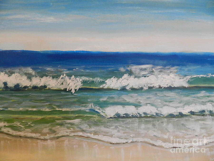 Waves Painting - Waves by Pamela  Meredith