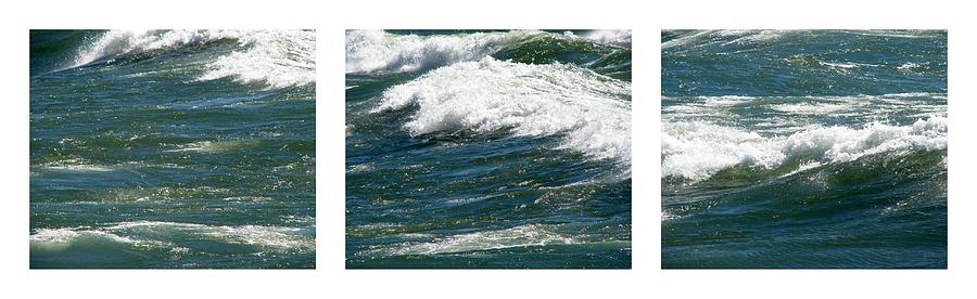 Michigan Photograph - Waves Triptych Ll by Michelle Calkins