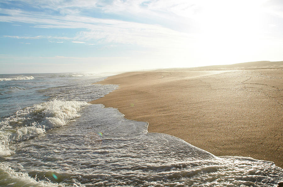 Waves Washing Up On Beach, Uruguay Photograph by Domino