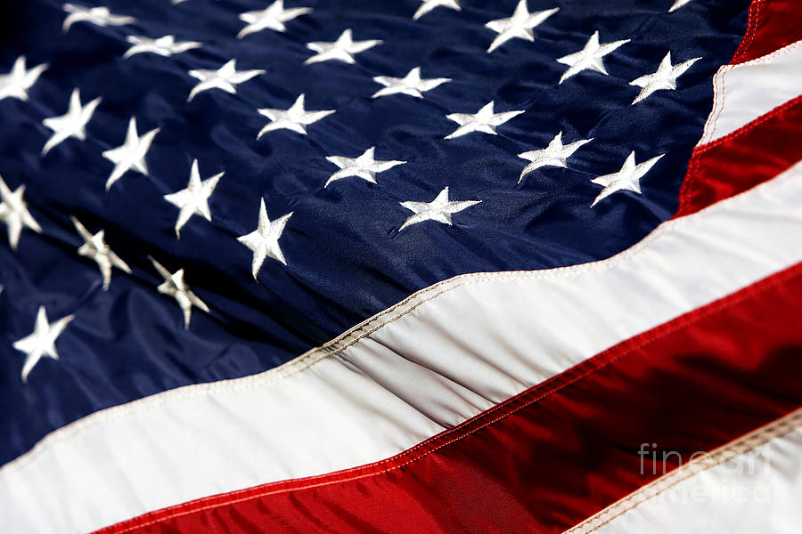 Flag Photograph - Waving At America by Lincoln Rogers