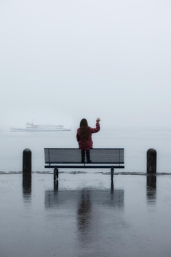 Female Photograph - Waving Goodbye by Joana Kruse