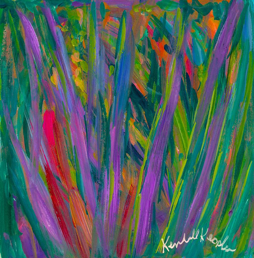 Abstract Painting - Waving by Kendall Kessler