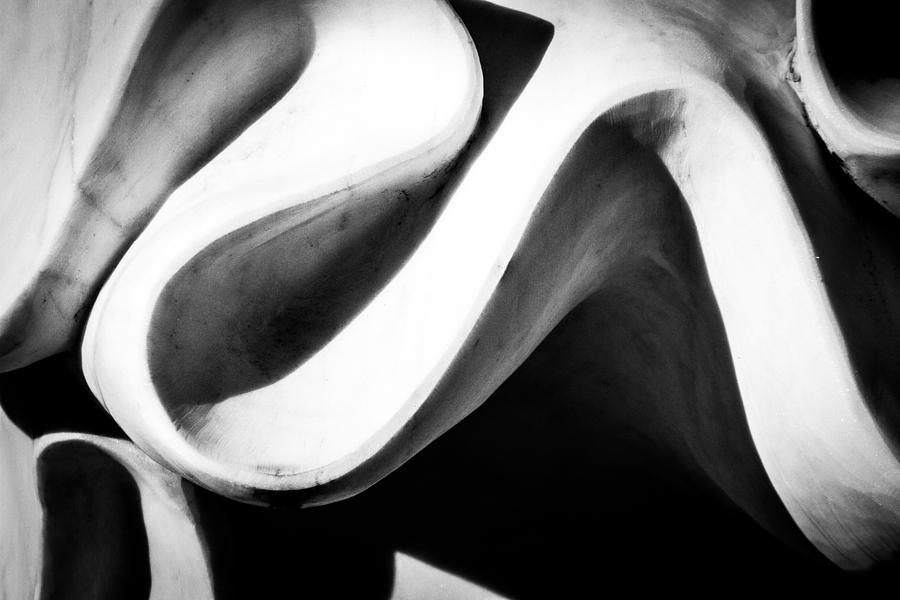 wavy abstract black and white composition photograph by christopher