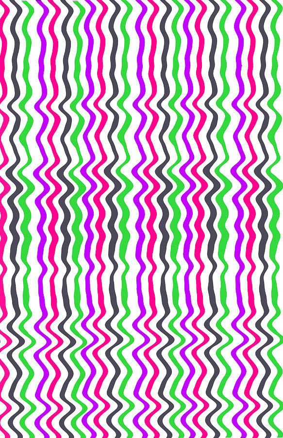 Digital Digital Art - Wavy Stripe by Louisa Hereford
