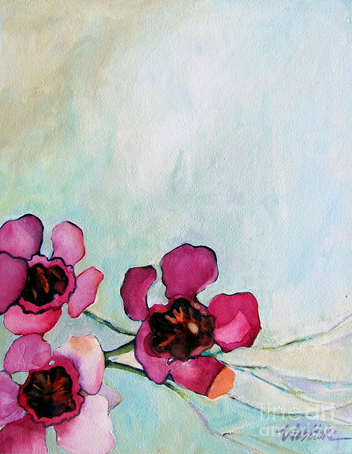 Wax flowers pink painting by wendy westlake flowers painting wax flowers pink by wendy westlake mightylinksfo