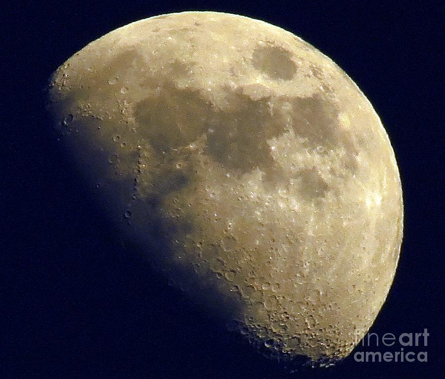 Moon Photograph - Waxing Gibbous by Lonna Ours