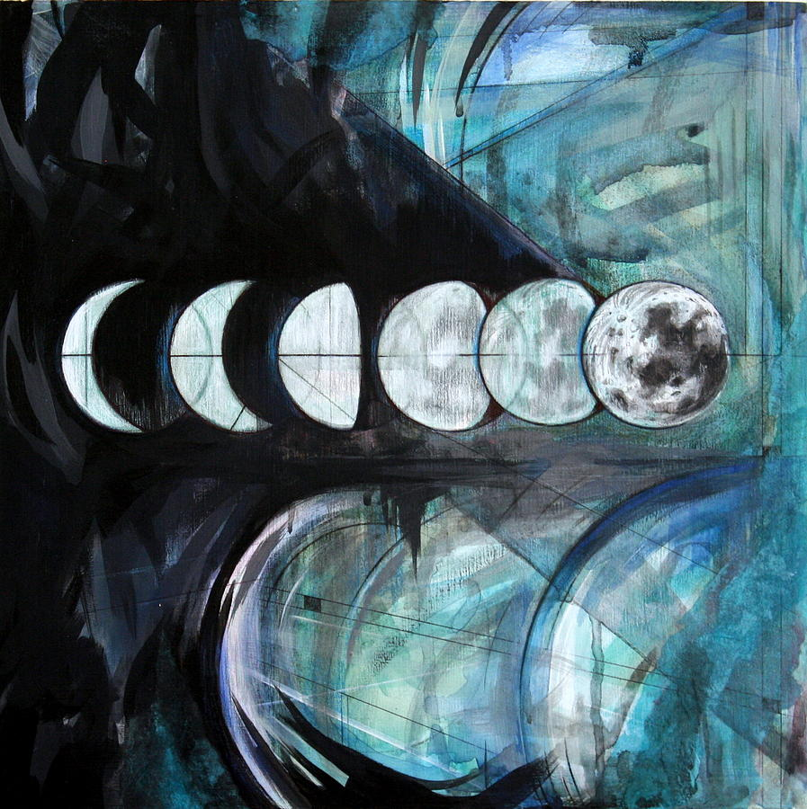 Moon Painting - Waxing by Stacey Sherman