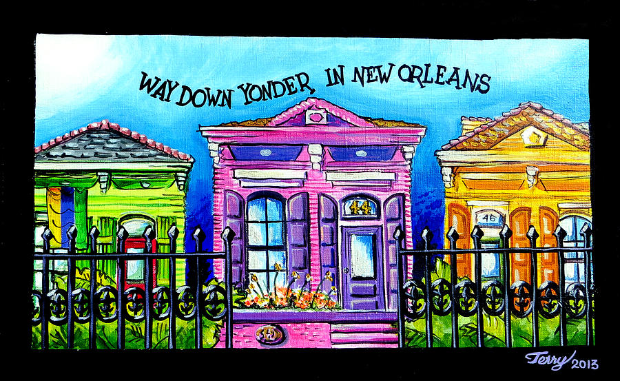 New Orleans Painting - Way Down Yonder In New Orleans by Terry J Marks Sr