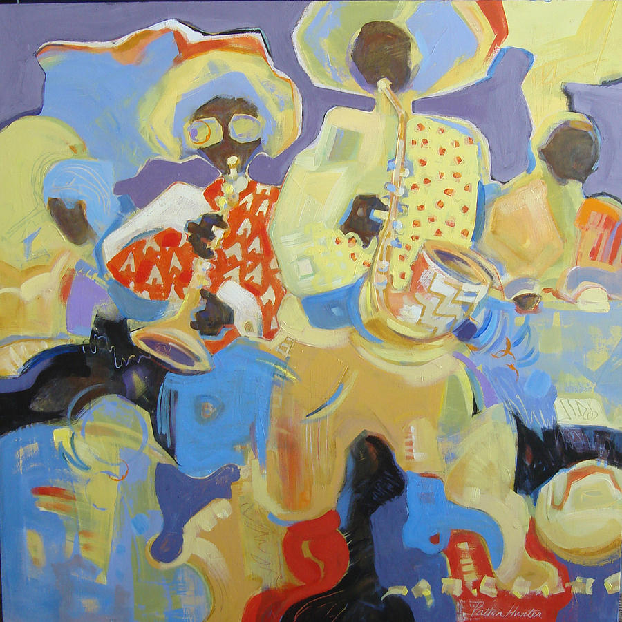 Jazz Painting - Way Down Yonder by Patton Hunter