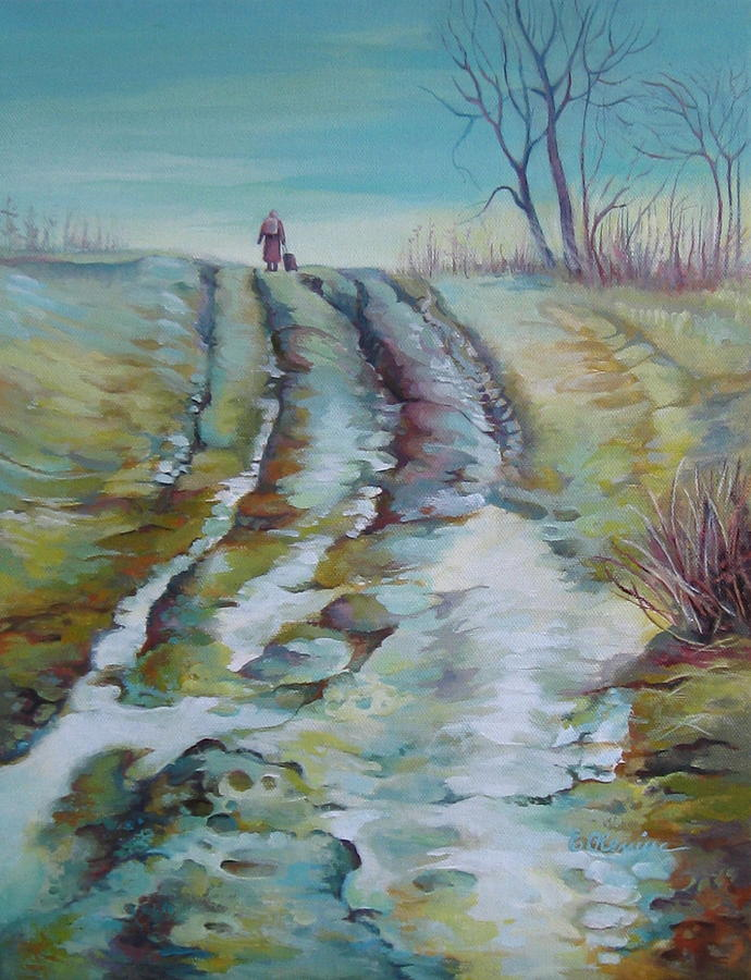 Road Painting - Way Home by Elena Oleniuc