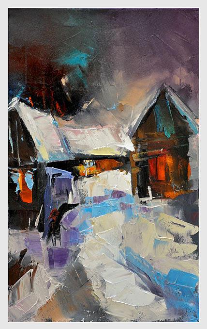 Hous Painting - way home VI by David Figielek