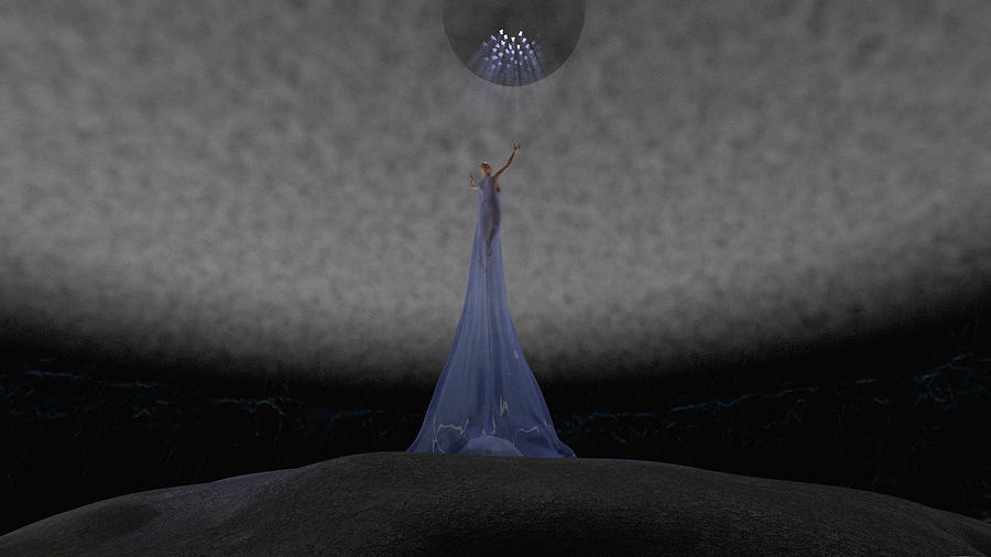 Way Digital Art - Way To Blue by Brainwave Pictures