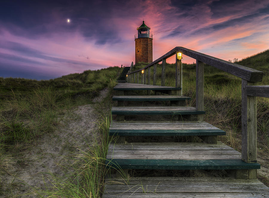 Sylt Photograph - Way To Lighthouse by Thomas Siegel