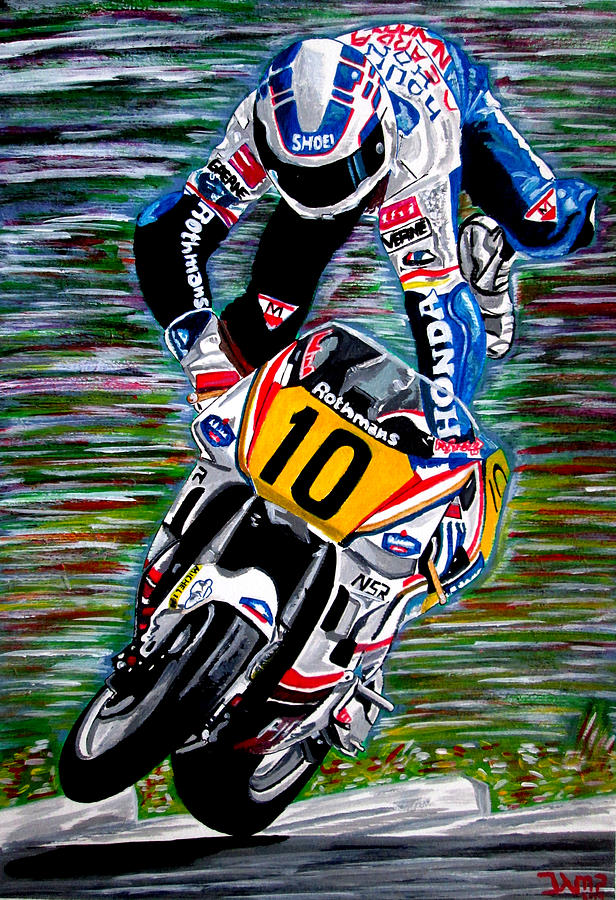 Motorsport Painting - Wayne Gardner by Jose Mendez