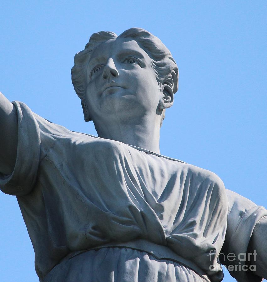 Lady Photograph - Waynesburg University Statue by Cynthia Snyder