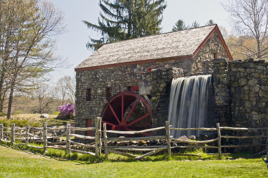Sudbury Photograph - Wayside Grist Mill 5 by Dennis Coates