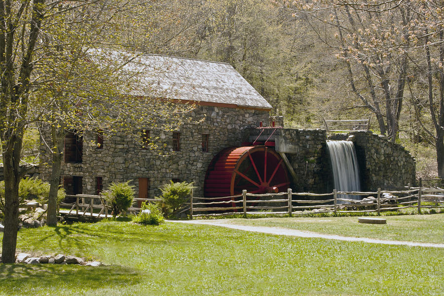 Sudbury Photograph - Wayside Grist Mill 6 by Dennis Coates