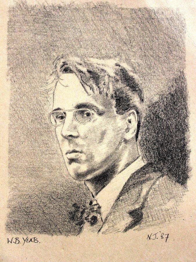 Pencil Drawing - W.b. Yeats by John  Nolan