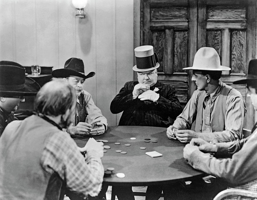 W.C. Fields Playing Poker Photograph by Underwood Archives