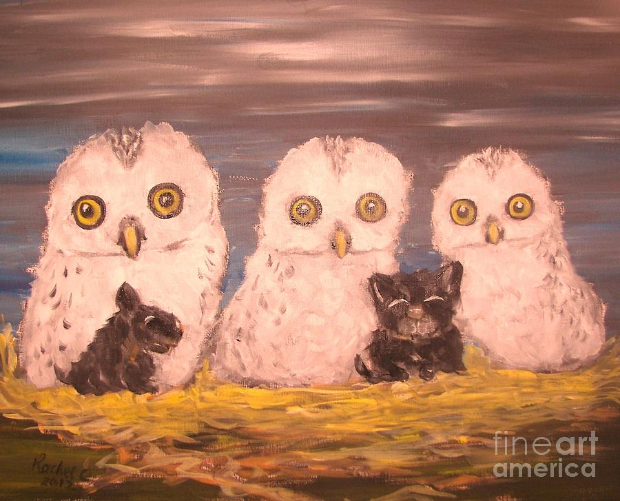 Birds Painting - We Adopted by Rachel Carmichael