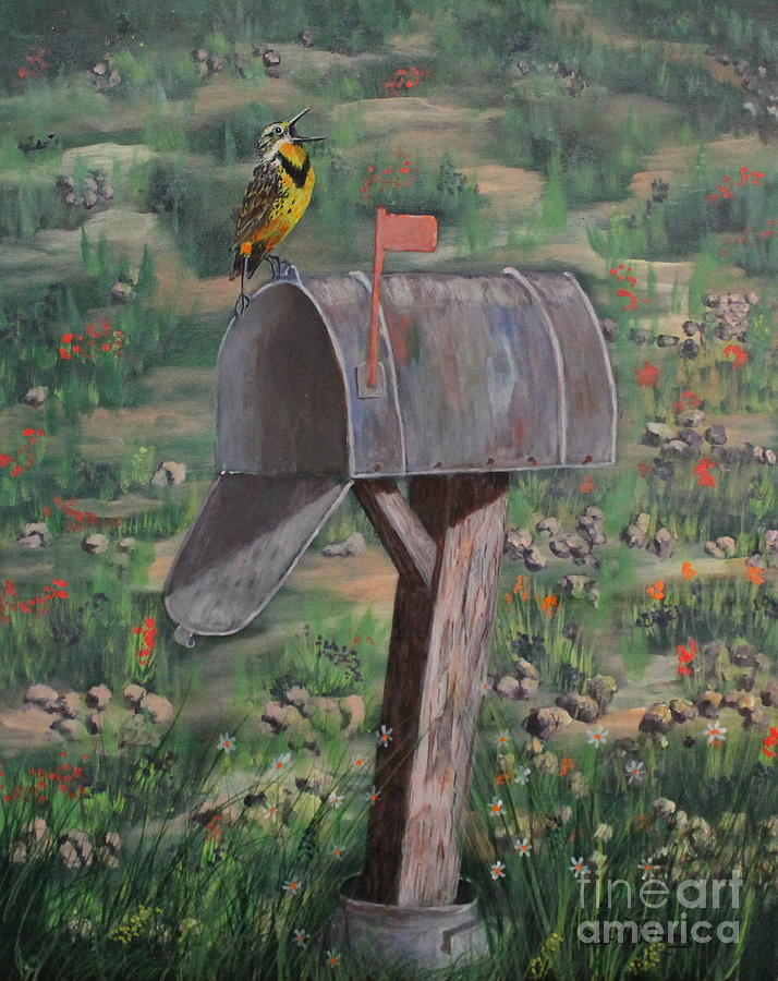 Meadowlark Painting - We Are Moving In by Bob Williams