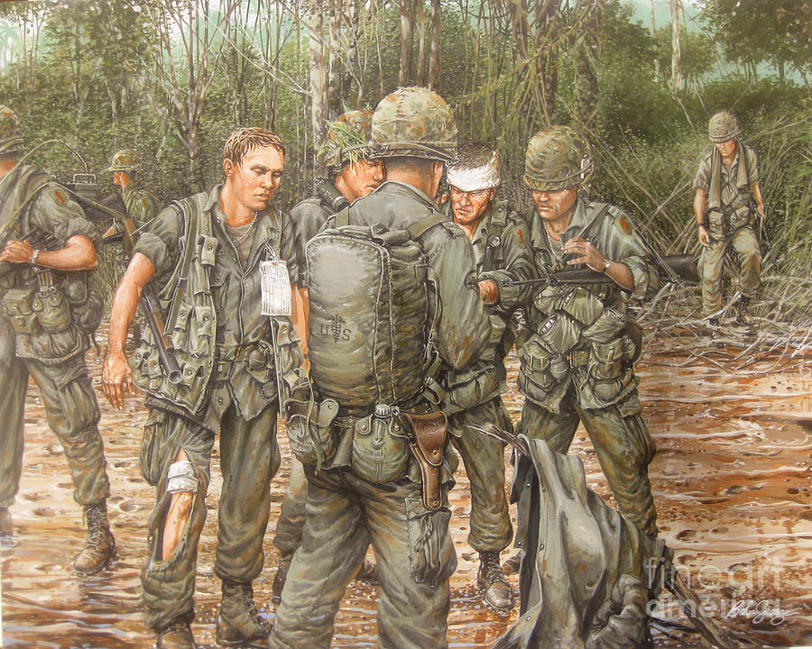 Vietnam Painting - We Are Our Brothers Keepers by Bob  George