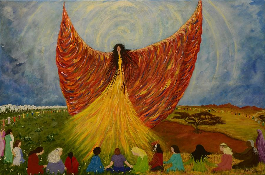 Believe Painting - We Are Rising by Judy M Watts-Rohanna