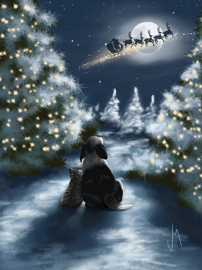Christmas Painting - We Are So Good by Veronica Minozzi